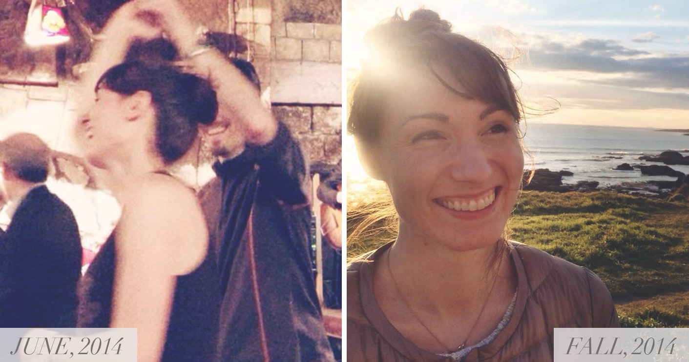 Left: This night of dancing a few days after arriving in Paris in June, 2014 marked the beginning of my new life here. Right: Soaking up a sea-side weekend in France in the fall of 2014.